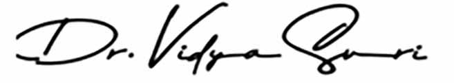 Dr. Vidya Suri - Signature